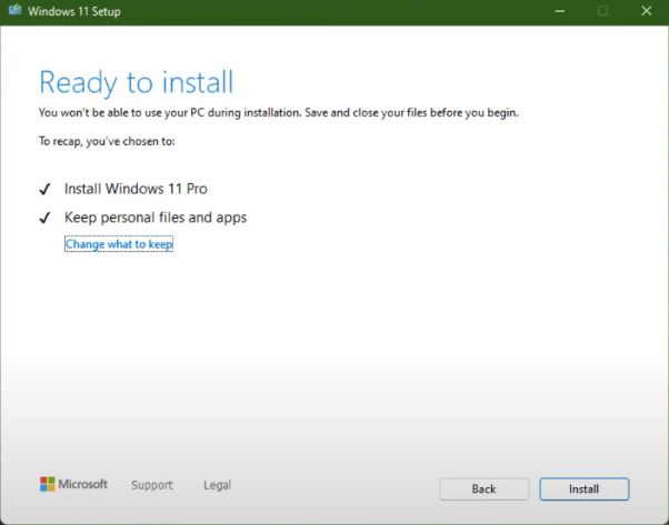 Upgrade to Windows 11 from ISO File