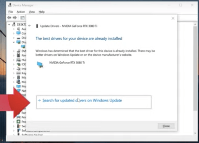 Update Graphics Card Drivers Using Device Manager