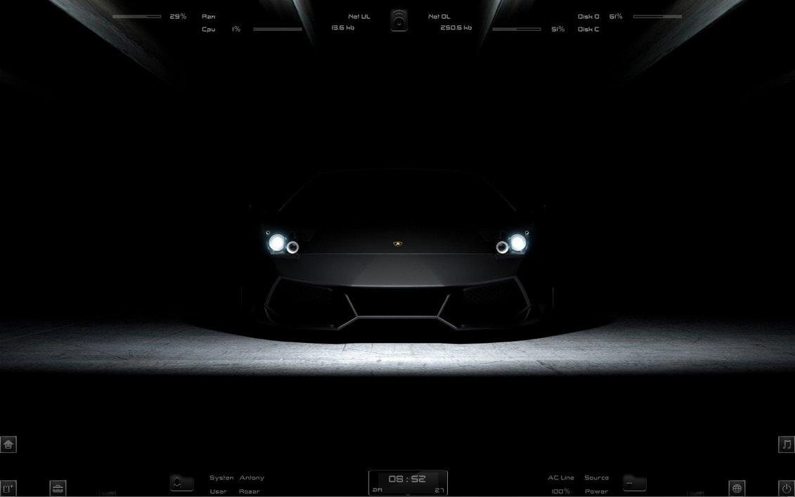 Bmw M5 Girl Wallpaper Dark Lamborghini Rainmeter Skin For Windows 7