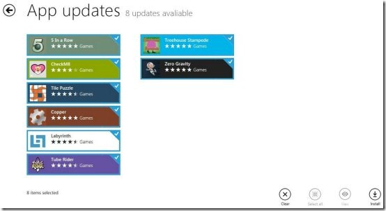 Apps updating Windows8