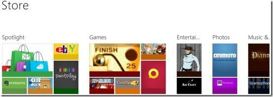 Landing Page Windows 8
