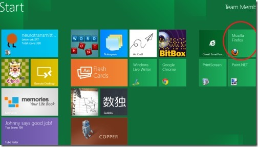 Firefox in Windows 8