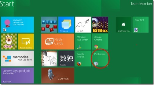 PrintScreen in Windows 8