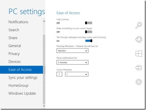 Windows 8 PC settings 8