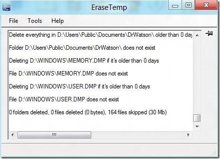 Erase Temp