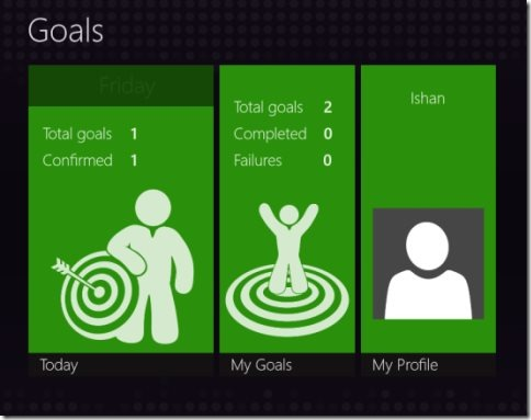 Goals application