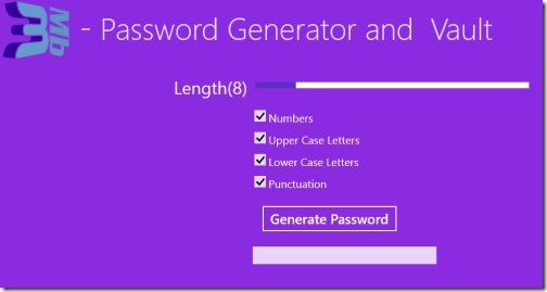 Password Generator Windows 8
