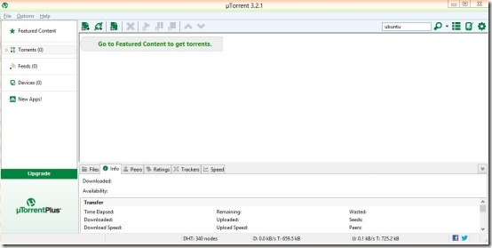 Windows 8 BitTorrent client