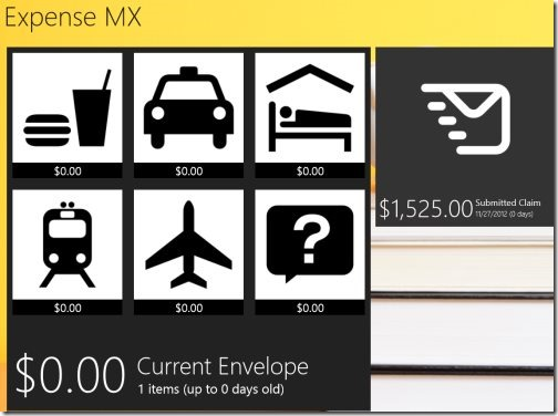 Windows 8 Expense Tracker apps