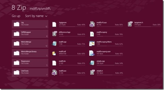 Windows 8 Zip file apps