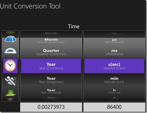 Windows 8 unit converter apps
