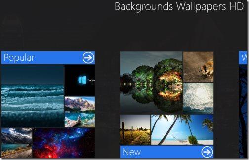 Windows 8 wallpaper app