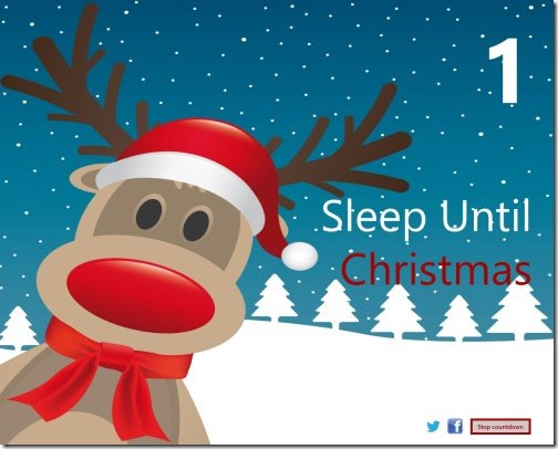Christmas Countdown Windows 8 app