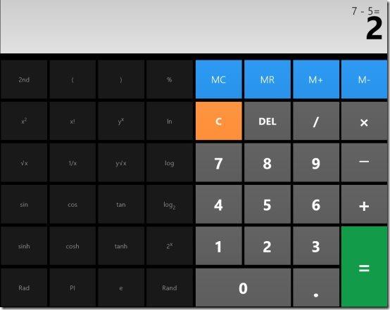 Windows 8 Calculator App