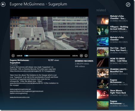 Windows 8 Dailymotion app
