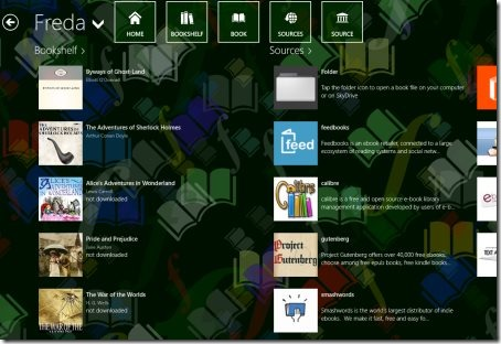 Windows 8 eBook apps