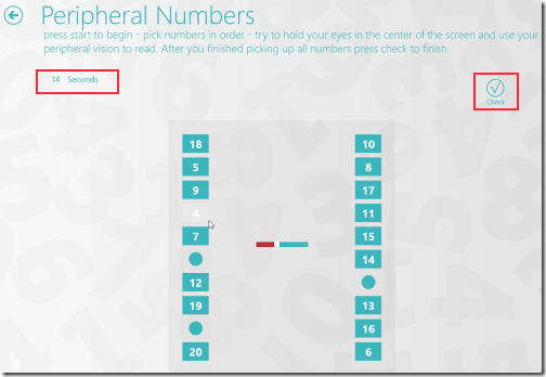Peripheral-number-game