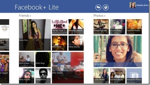 Windows 8 Facebook app