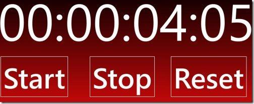 Windows 8 stop watch apps