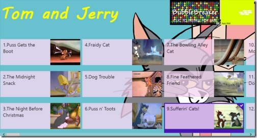 Windows 8 tom and jerry app