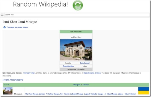 Windows 8 wikipedia apps