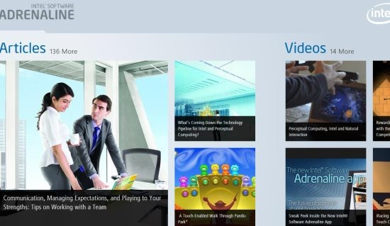 intel news app windows 8