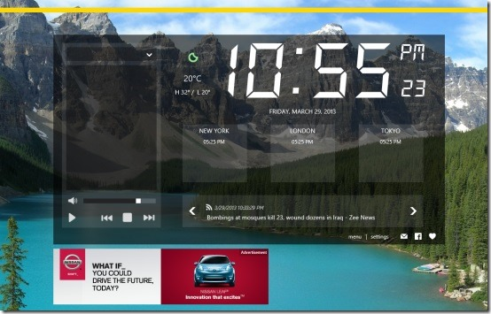 Windows 8 alarm clock app