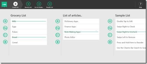 Windows 8 to-do list app