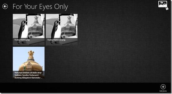 Windows 8 app to hide photos