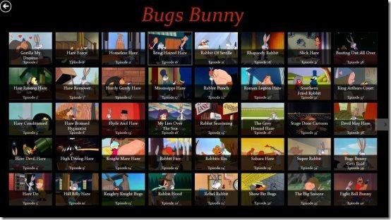 looney tunes windows 8 videos