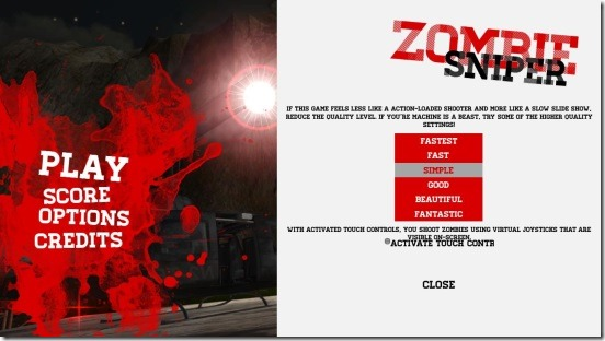 Awesome Zombie Sniper - graphics settings