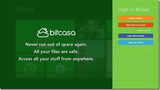 Bitcasa - Login