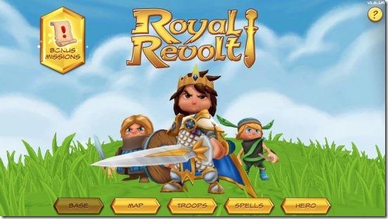 Royal Revolt-home screen