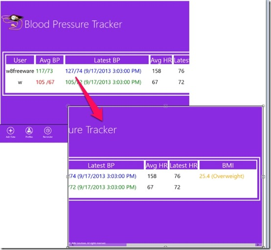 3Mb  Blood Pressure Tracker-Calculated Details