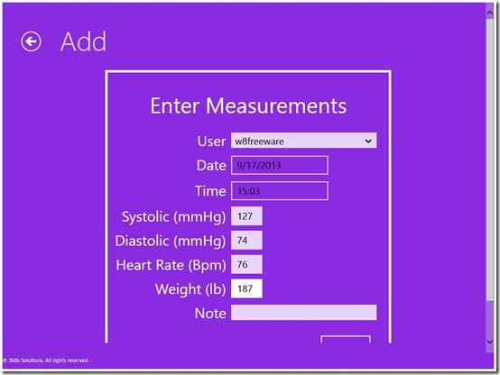 3Mb Blood Pressure Tracker- Details