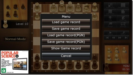 The Chess Lv.100 - saving and loading game records