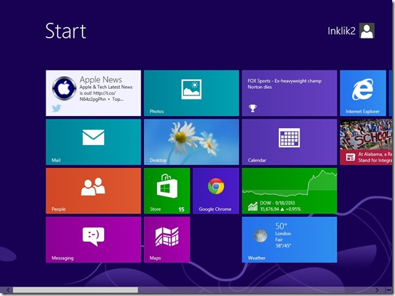 Twitter LIVE TILE- Windows 8 Twitter App- Enabled Tile on Start Screen