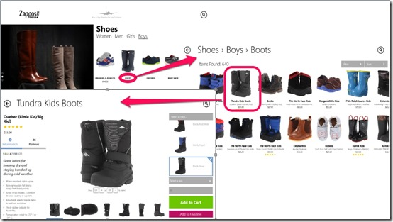 Zappos.com- Layout,Imformation and Reviews