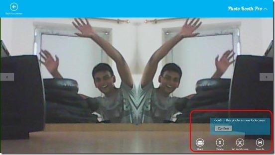 Photo Booth Pro - setting lock screen photo