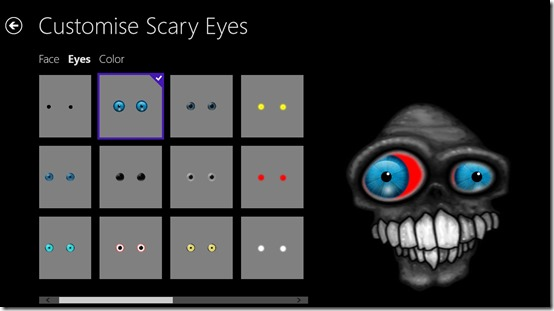 Scary Eyes- Eye option