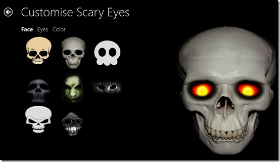 Scary Eyes- Main Screen