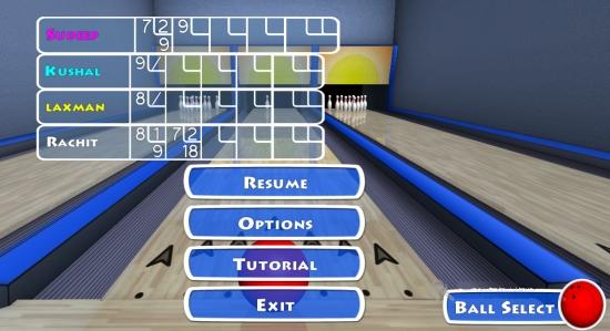 Trick Shot Bowling- Pause