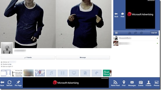 Facebook Forever- Profile view