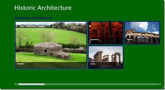 Historic Architecture- Main Screen