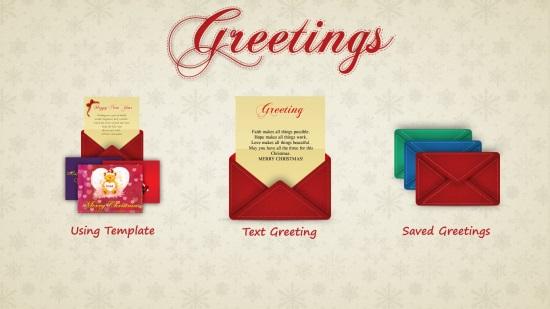 Greetings - Start Screen