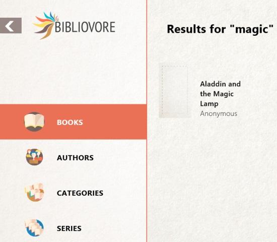 Bibliovore- Search