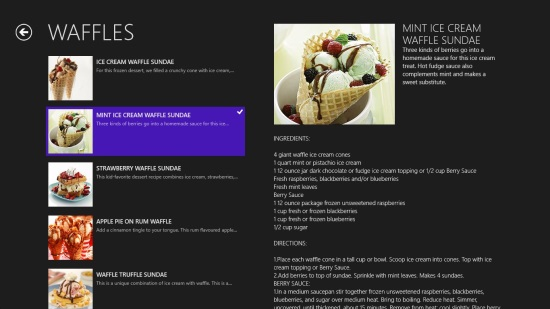 Dessert Mania - Recipe List