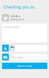 Foursquare- Check in