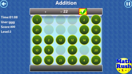 Math Rush Basic Operations Lite