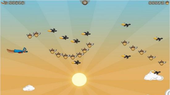 Nutty Run!- Turn into a flyig super squirrel